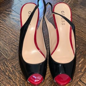 Guess Sling Back Patent Leather shoes